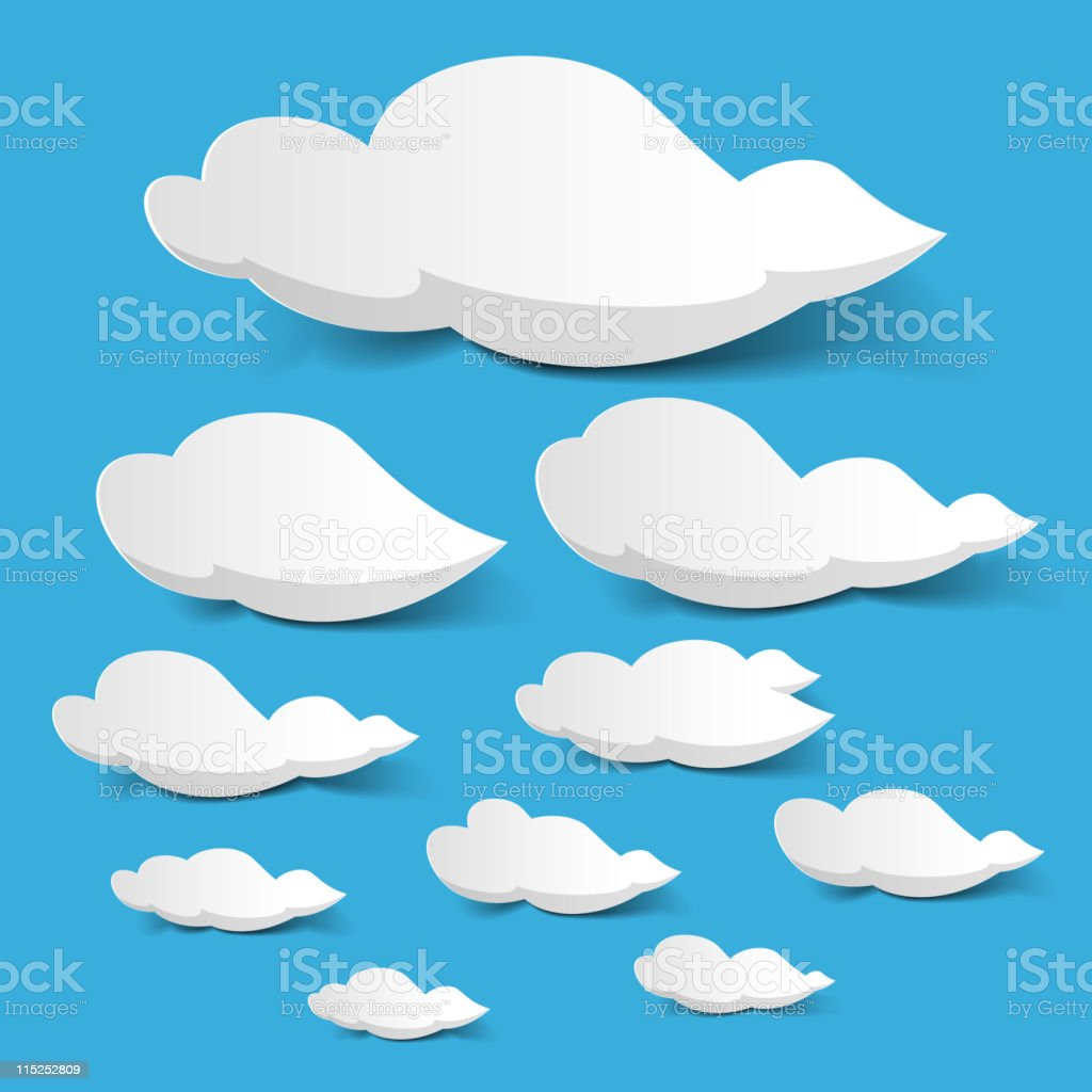 White clouds royalty-free stock vector art