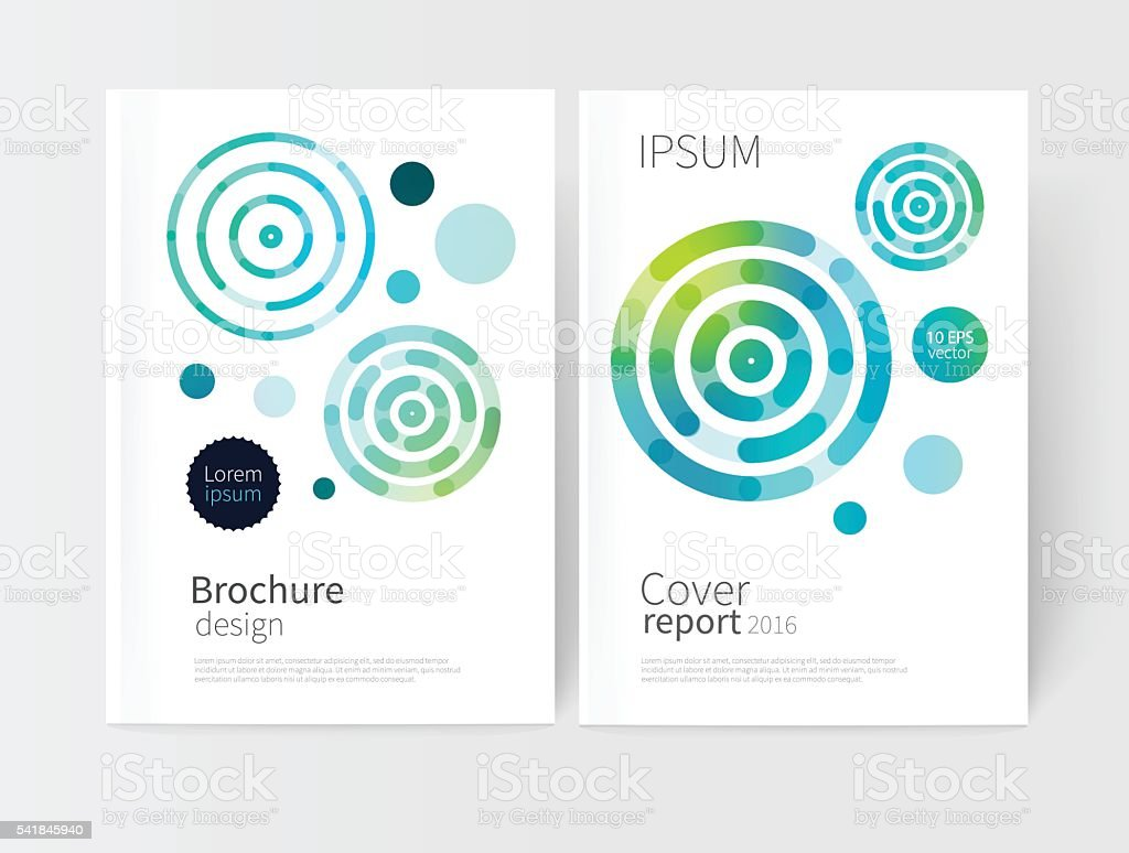 White cover brochure vector art illustration