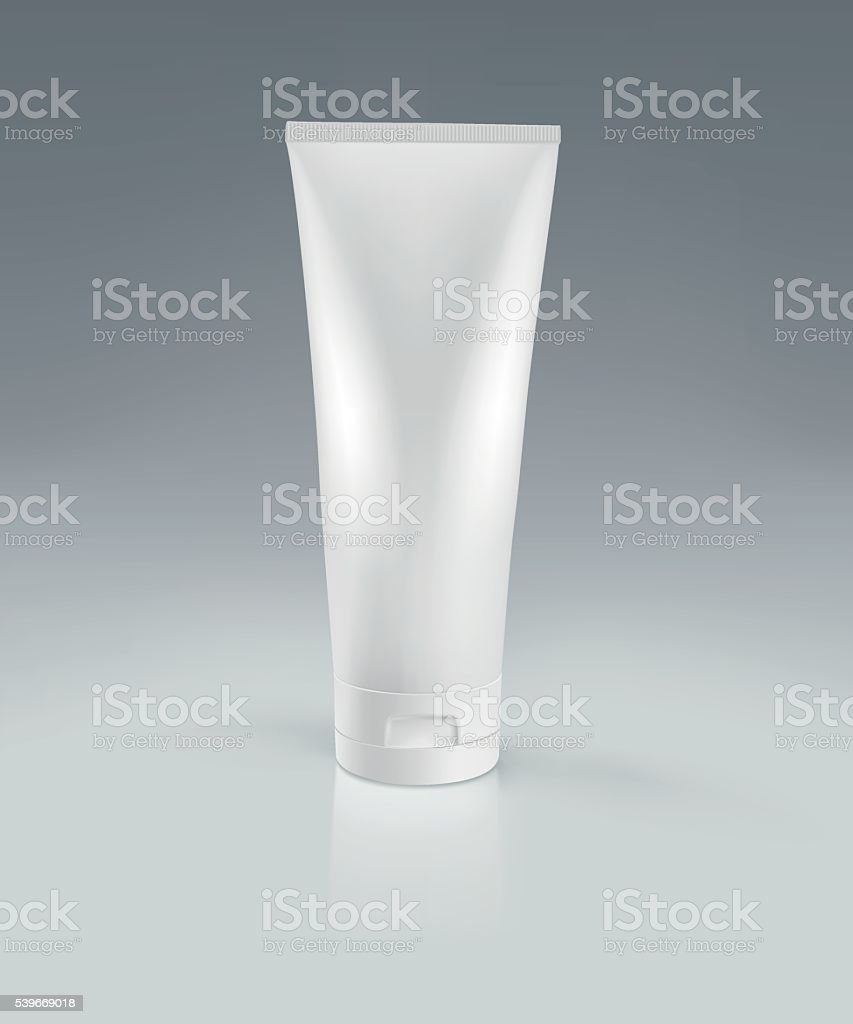 White cream tube. vector art illustration