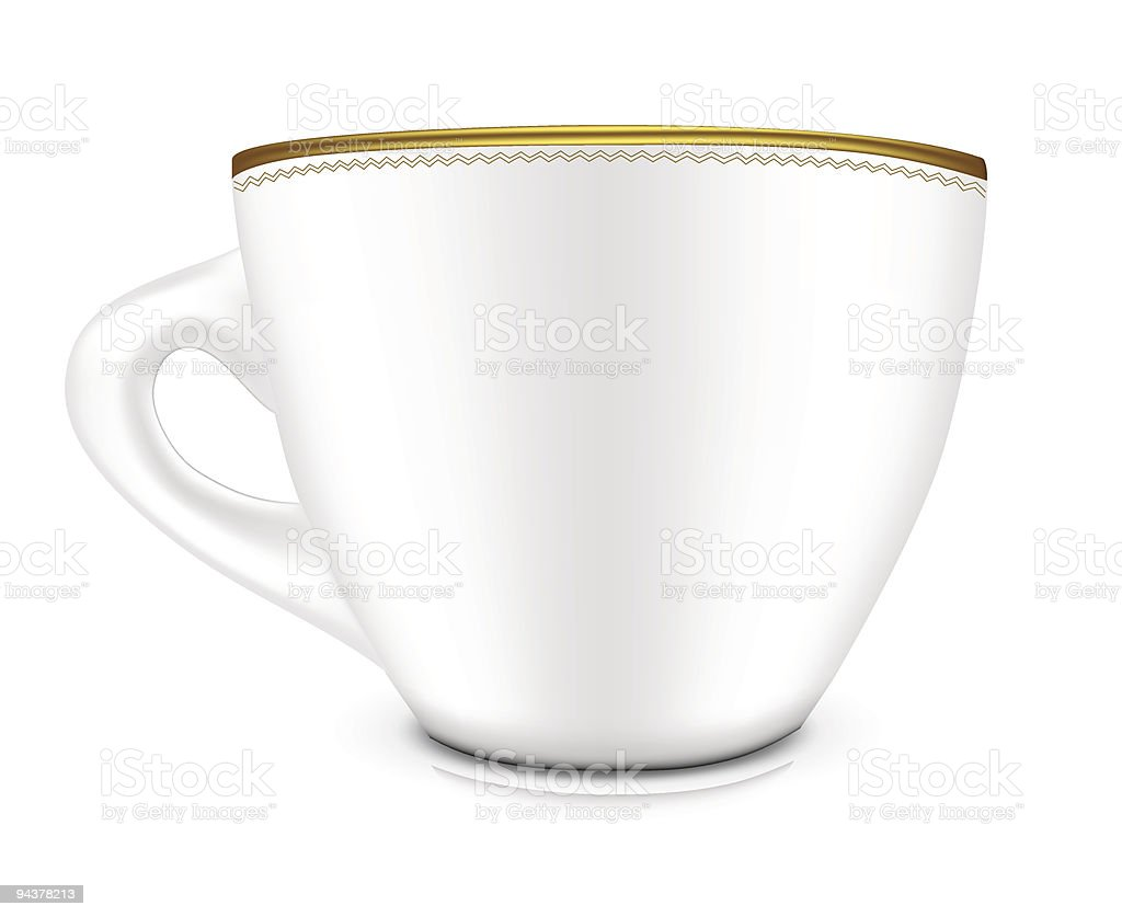 White Cup vector art illustration