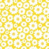 White daisies seamless pattern