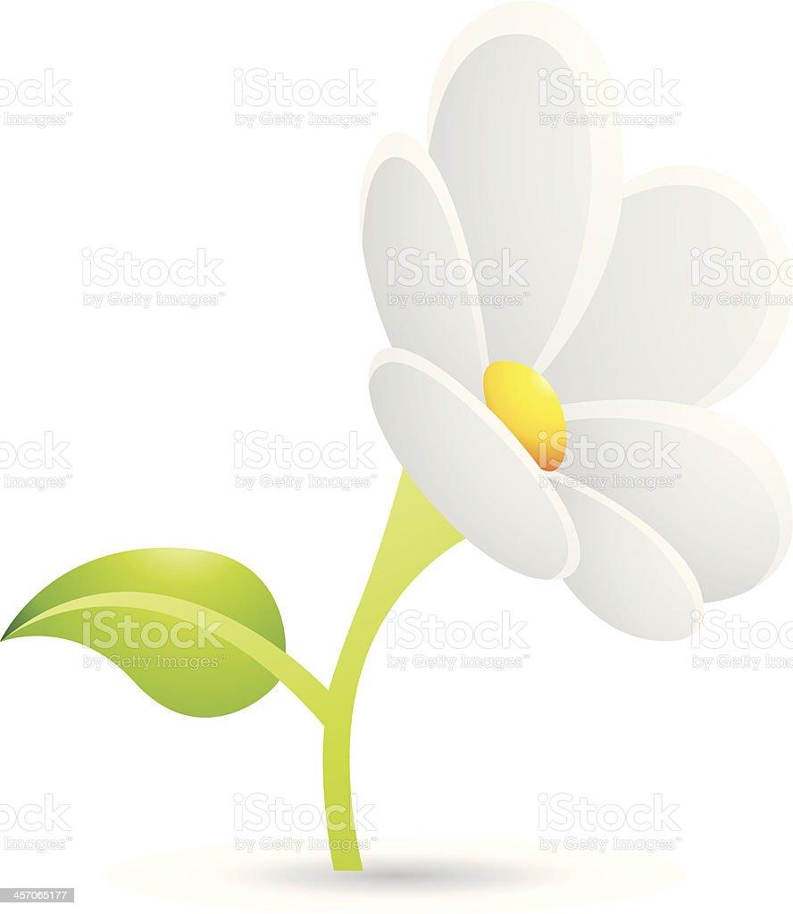 Icône de fleurs de Marguerite blanche stock vecteur libres de droits libre de droits