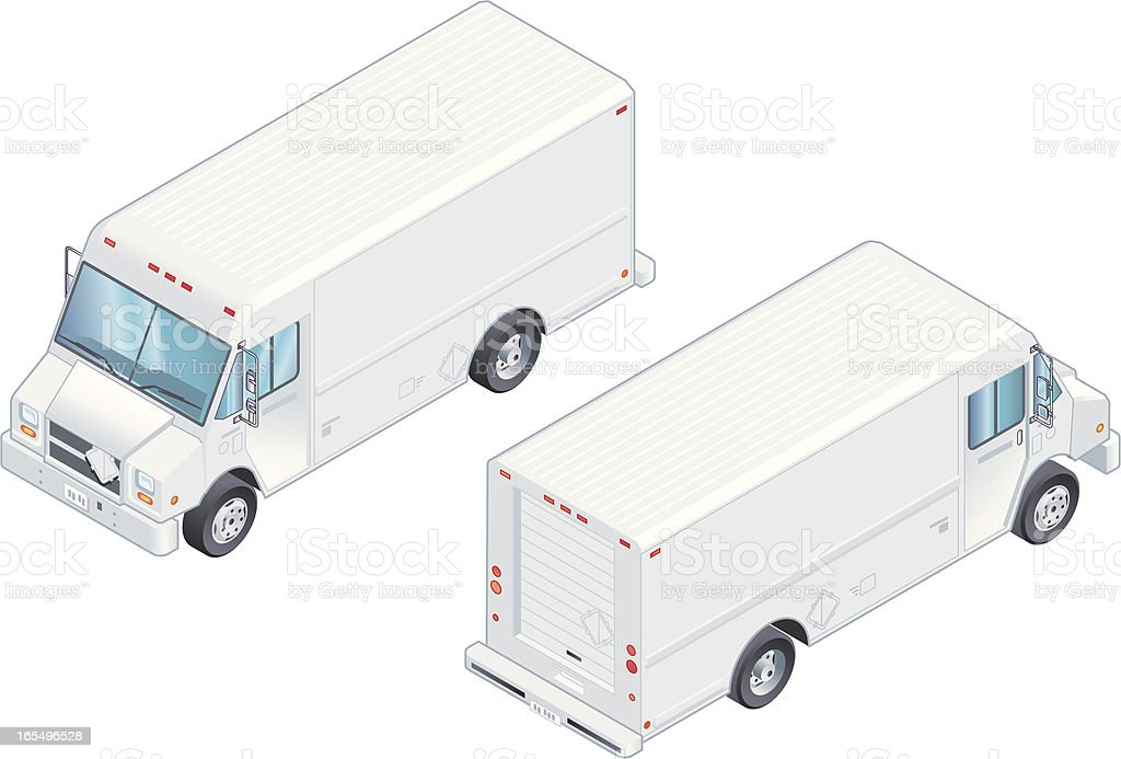 White Delivery Truck royalty-free stock vector art