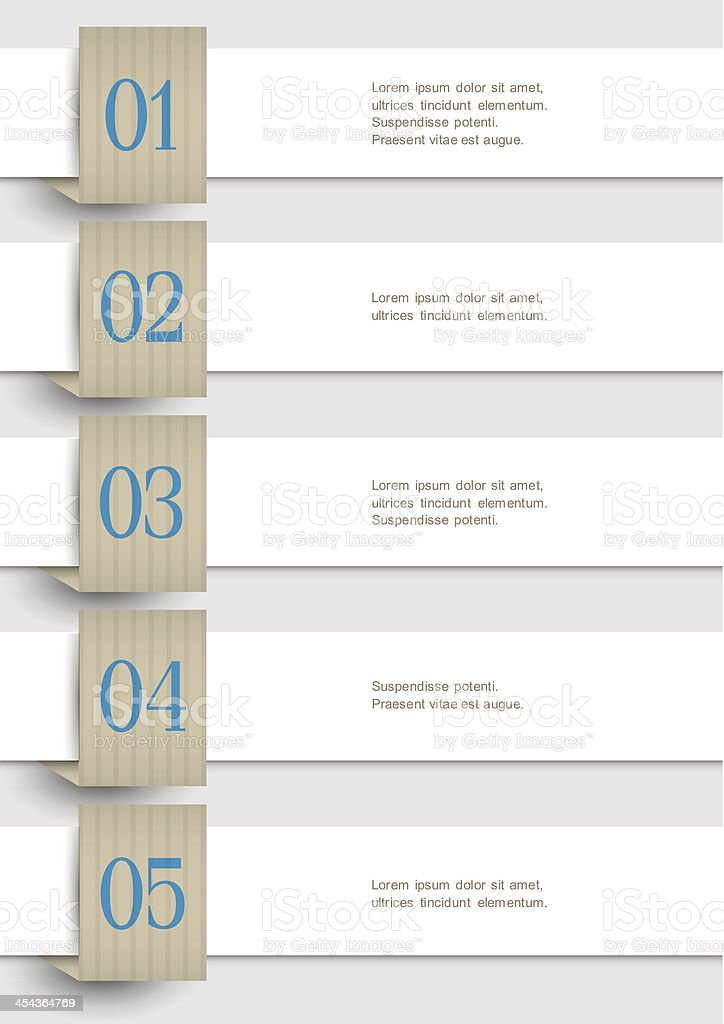 White Design Infographic Template royalty-free stock vector art