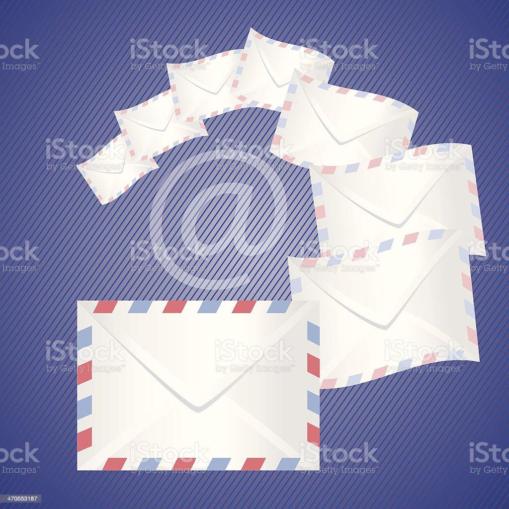 White detailed envelopes royalty-free stock vector art