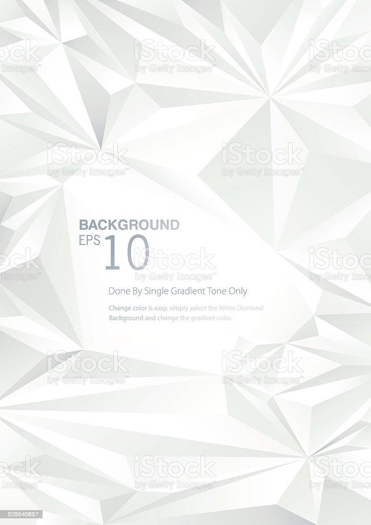 White Diamond Low Poly Background vector art illustration