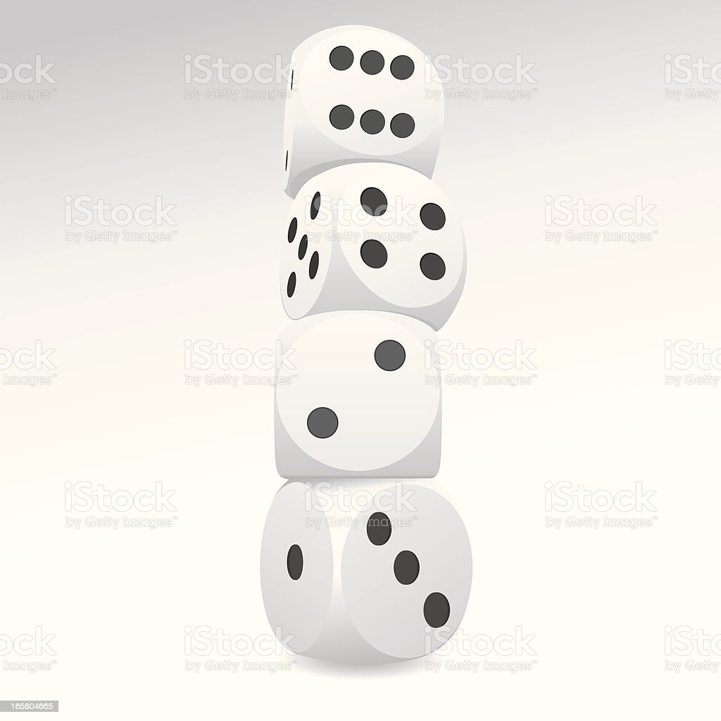 White Dice royalty-free stock vector art