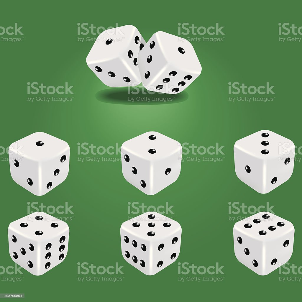 White dice vector art illustration