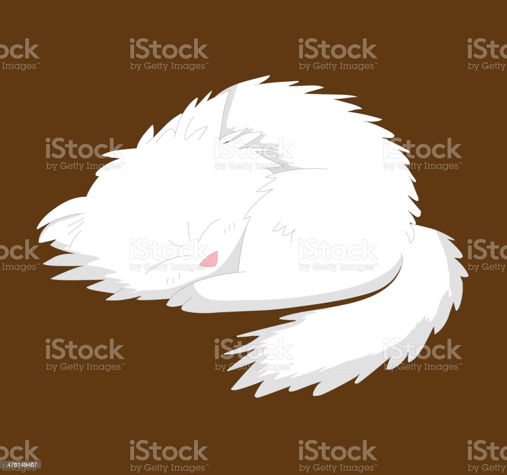 White dog royalty-free stock vector art
