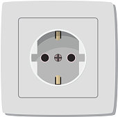 White electric socket