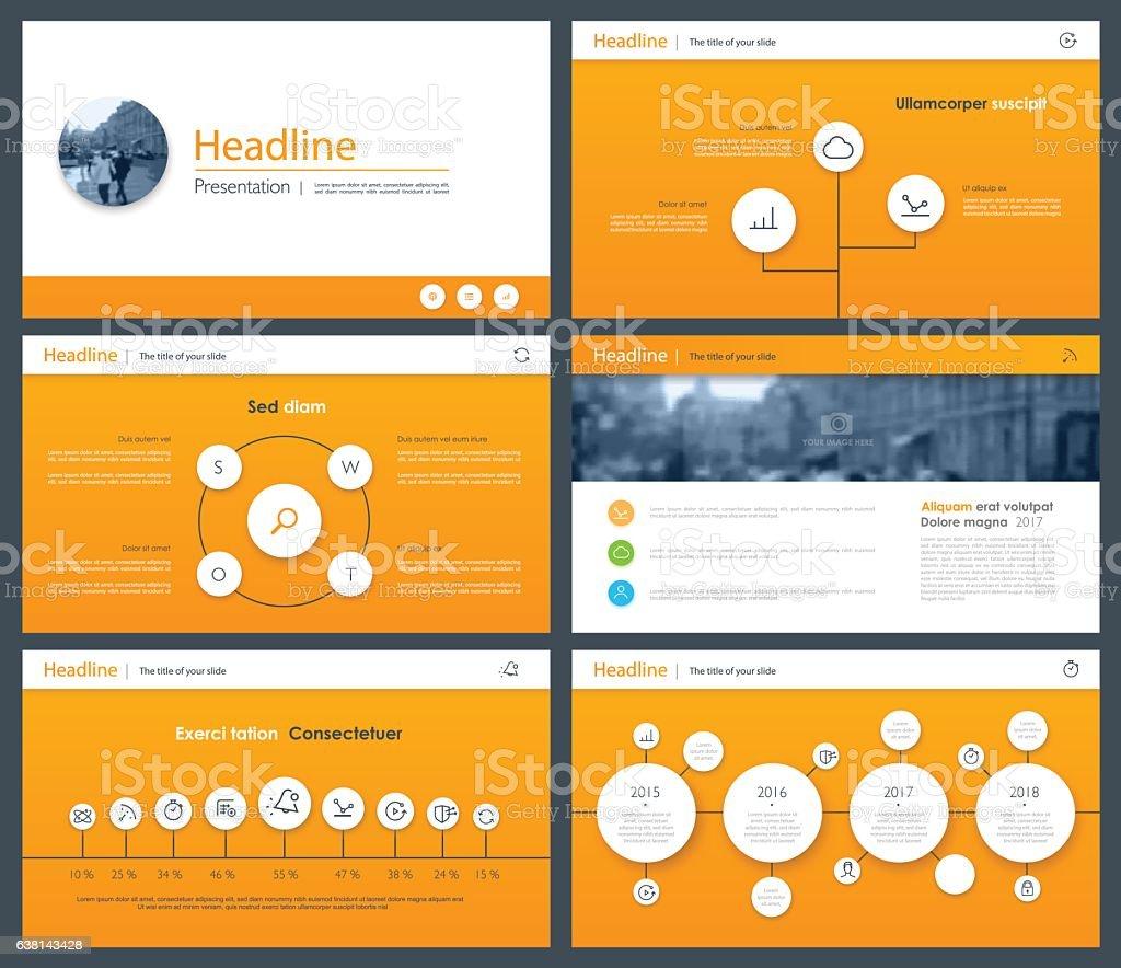 White elements of infographics for minimalist design vector art illustration