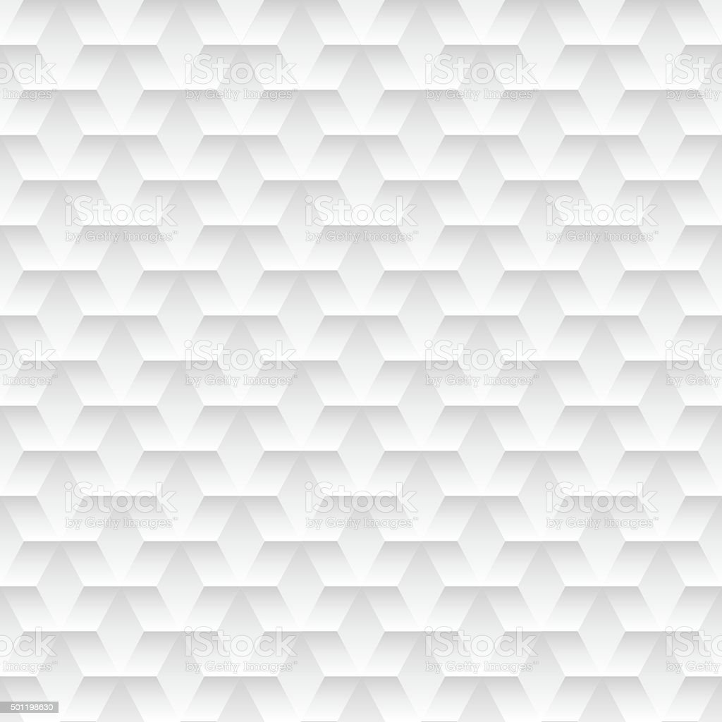 White embossed abstract design in a seamless pattern vector art illustration