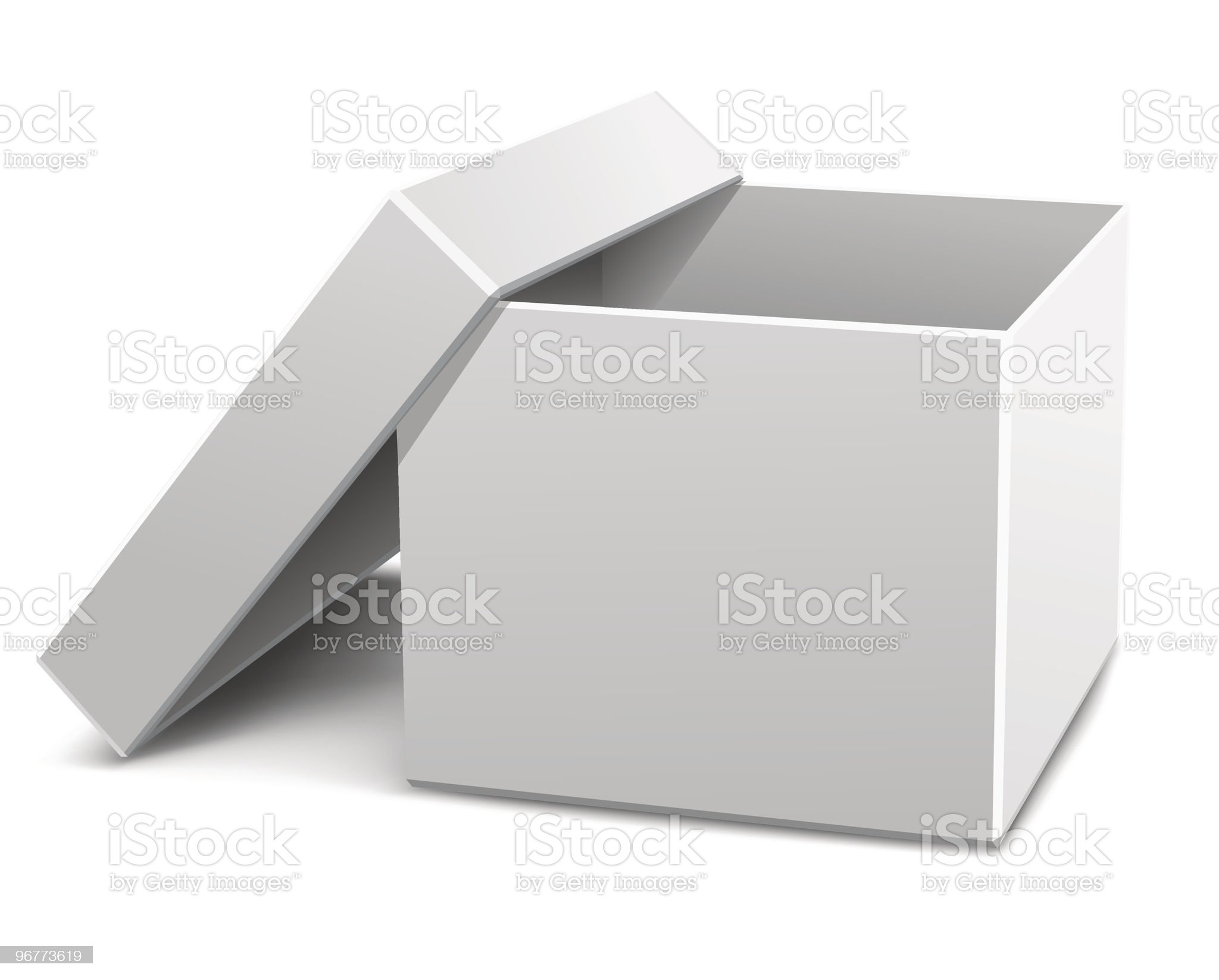 white empty opened cardboard box royalty-free stock vector art