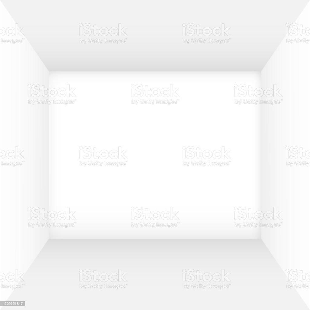 White empty room vector art illustration