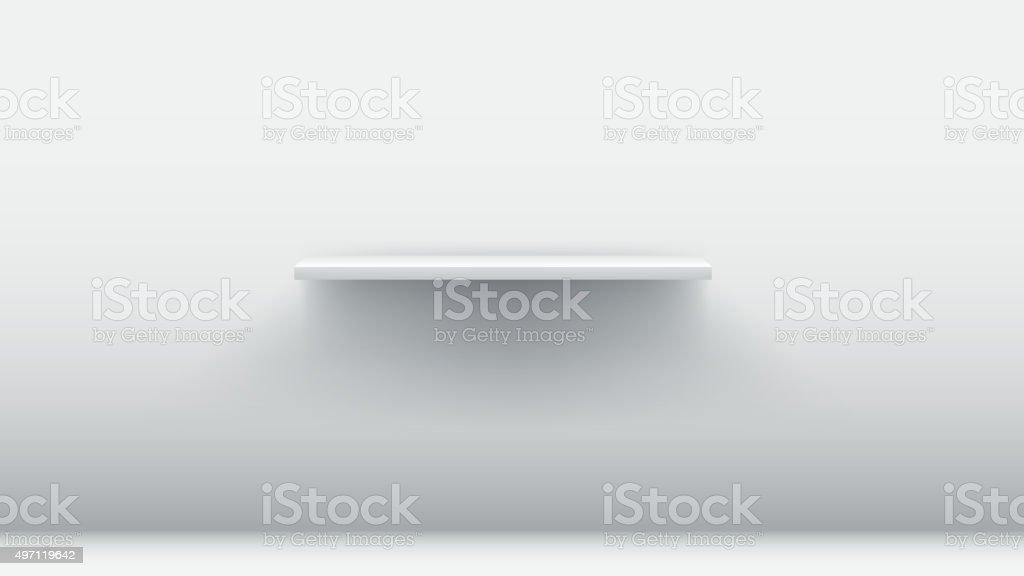 white empty shelf vector art illustration