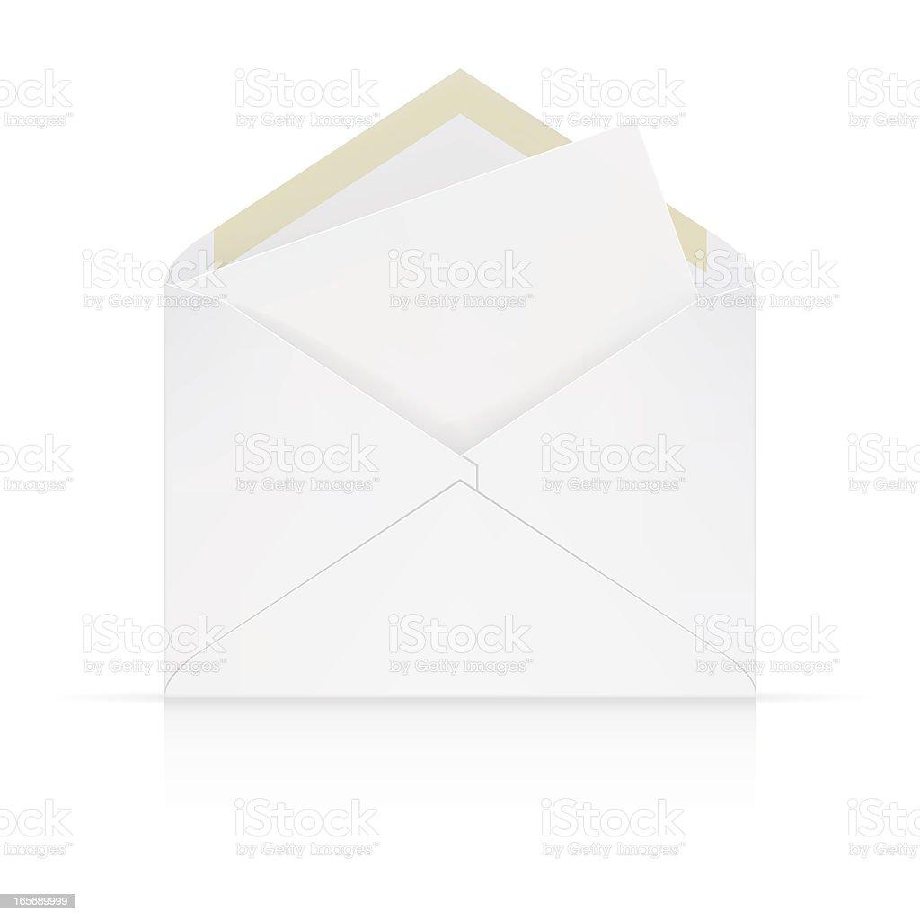 white envelope vector art illustration