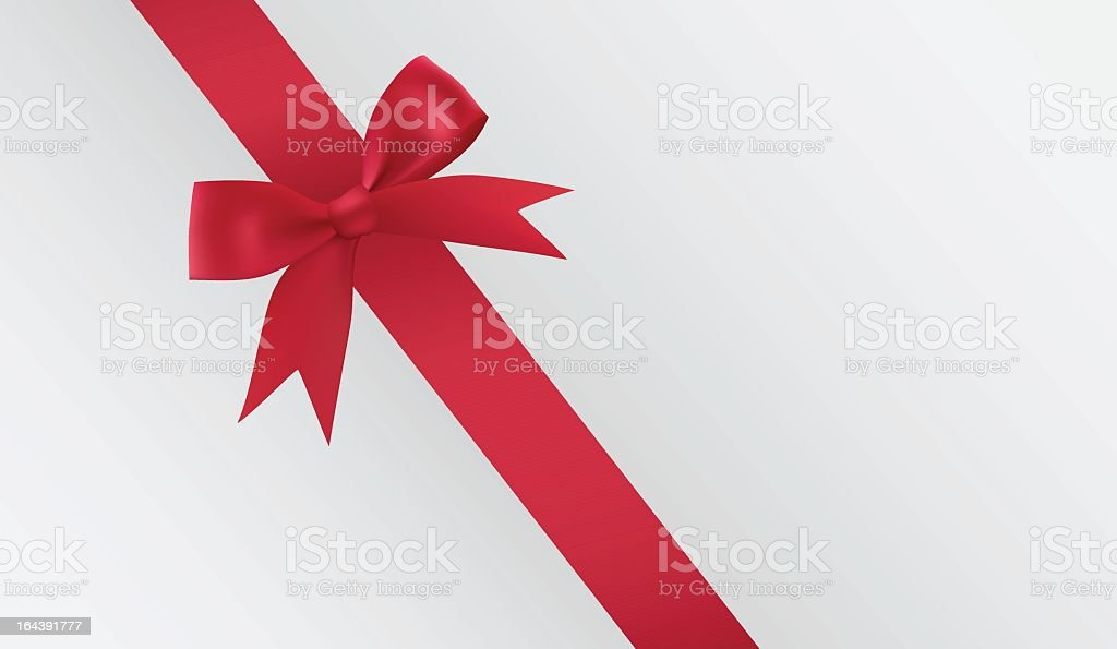 White envelope with a red ribbon it royalty-free stock vector art