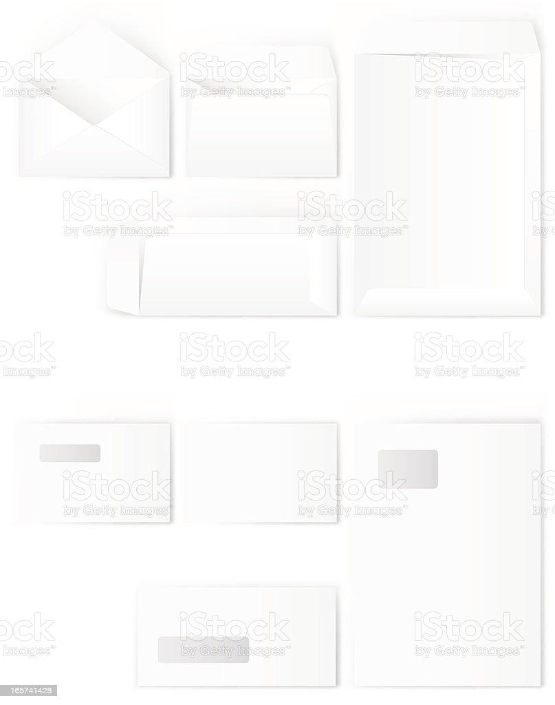White Envelopes royalty-free stock vector art