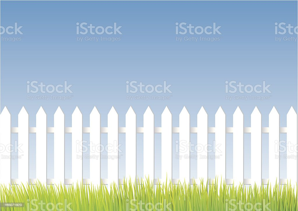 White fence royalty-free stock vector art