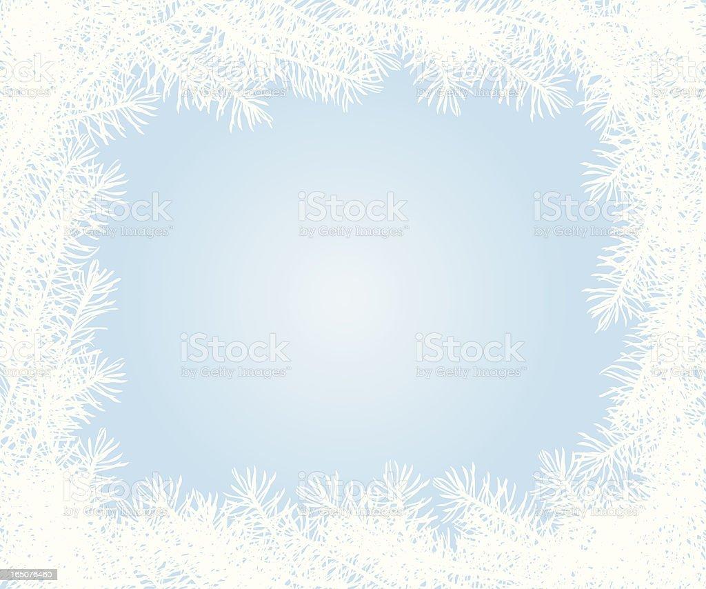 White Fir Tree Frame royalty-free stock vector art