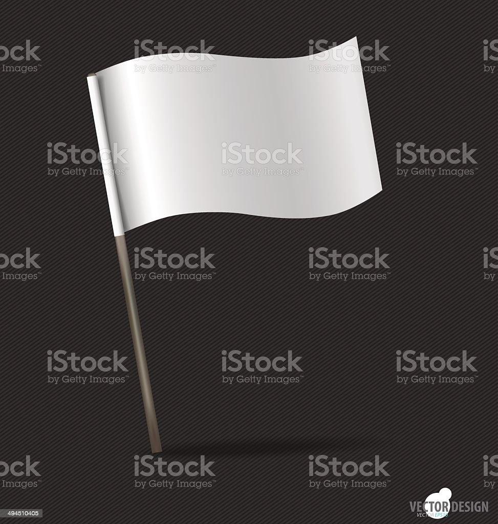 White flag. Vector illustration. royalty-free stock vector art