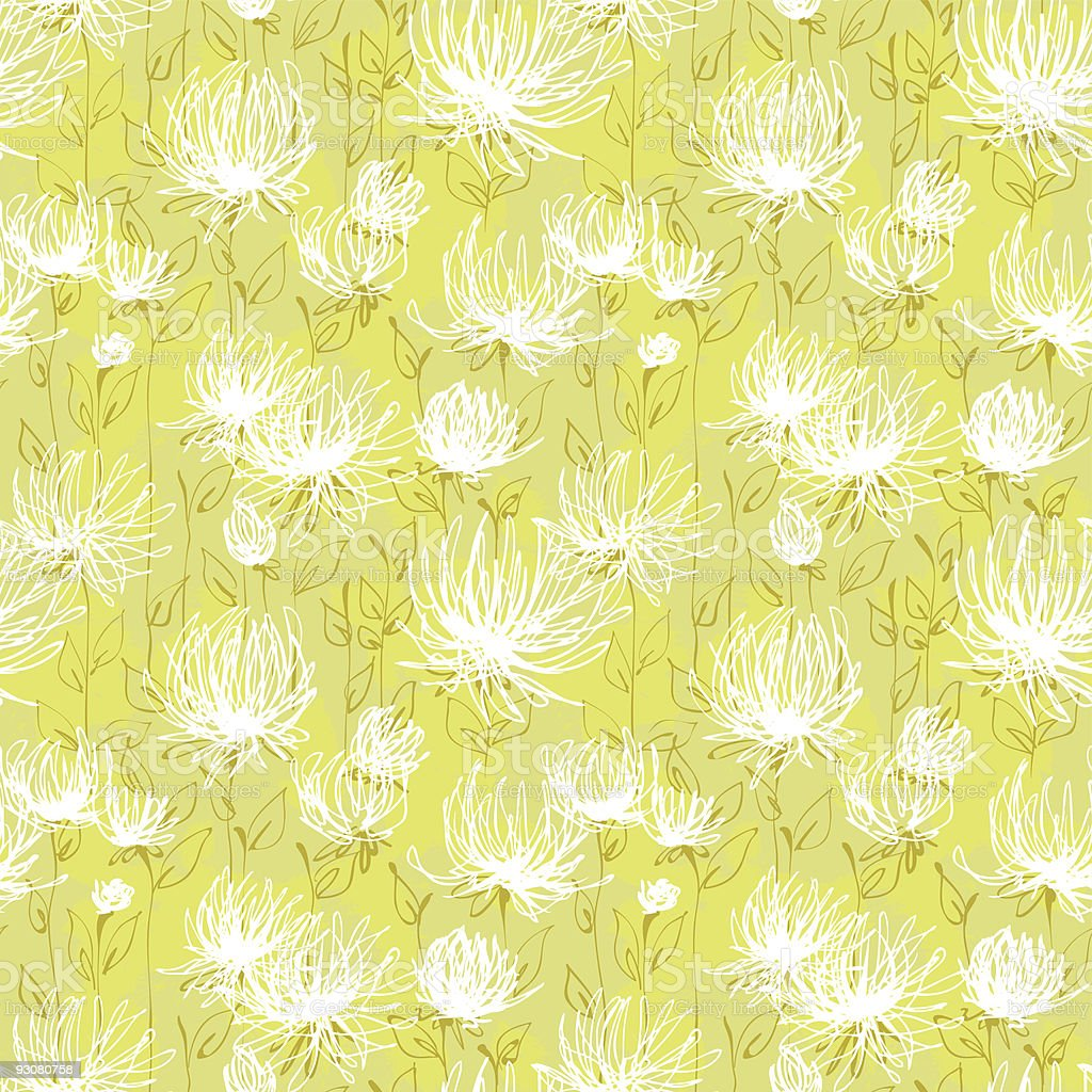 White flowers pattern royalty-free stock vector art
