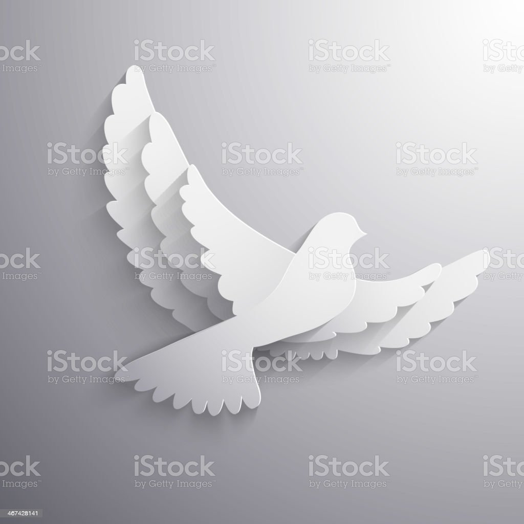 White flying dove abstract illustration - eps10 vector vector art illustration