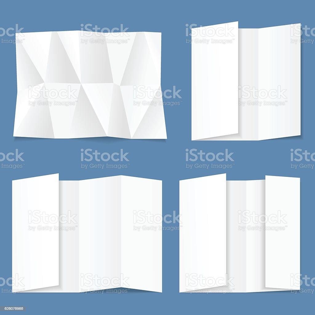 White folded paper vector art illustration