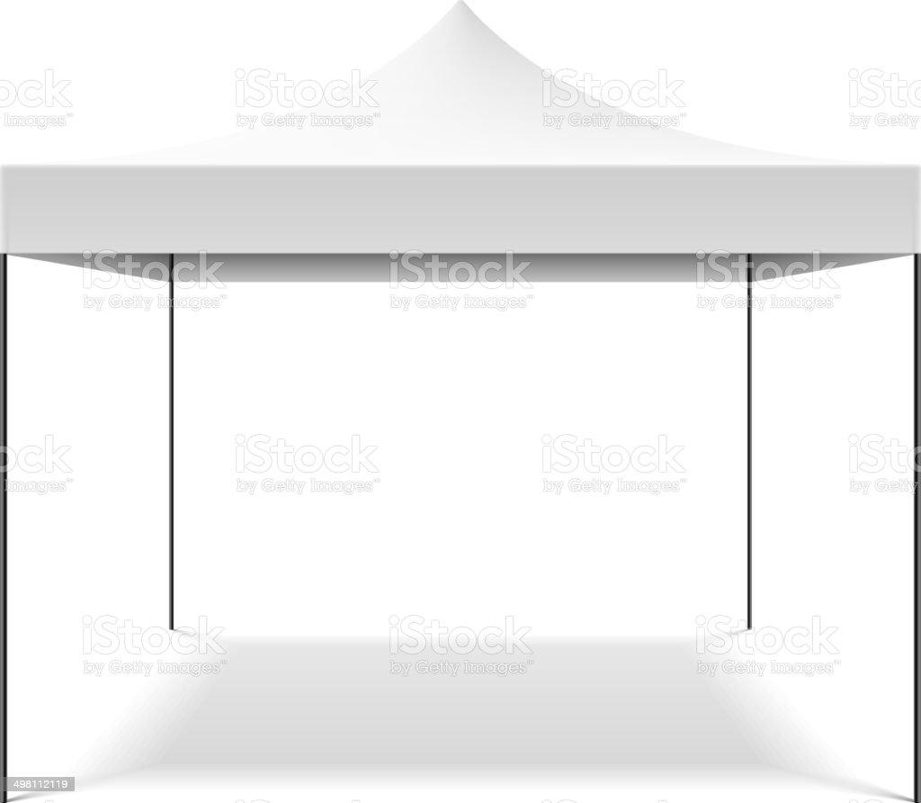 White folding tent vector art illustration