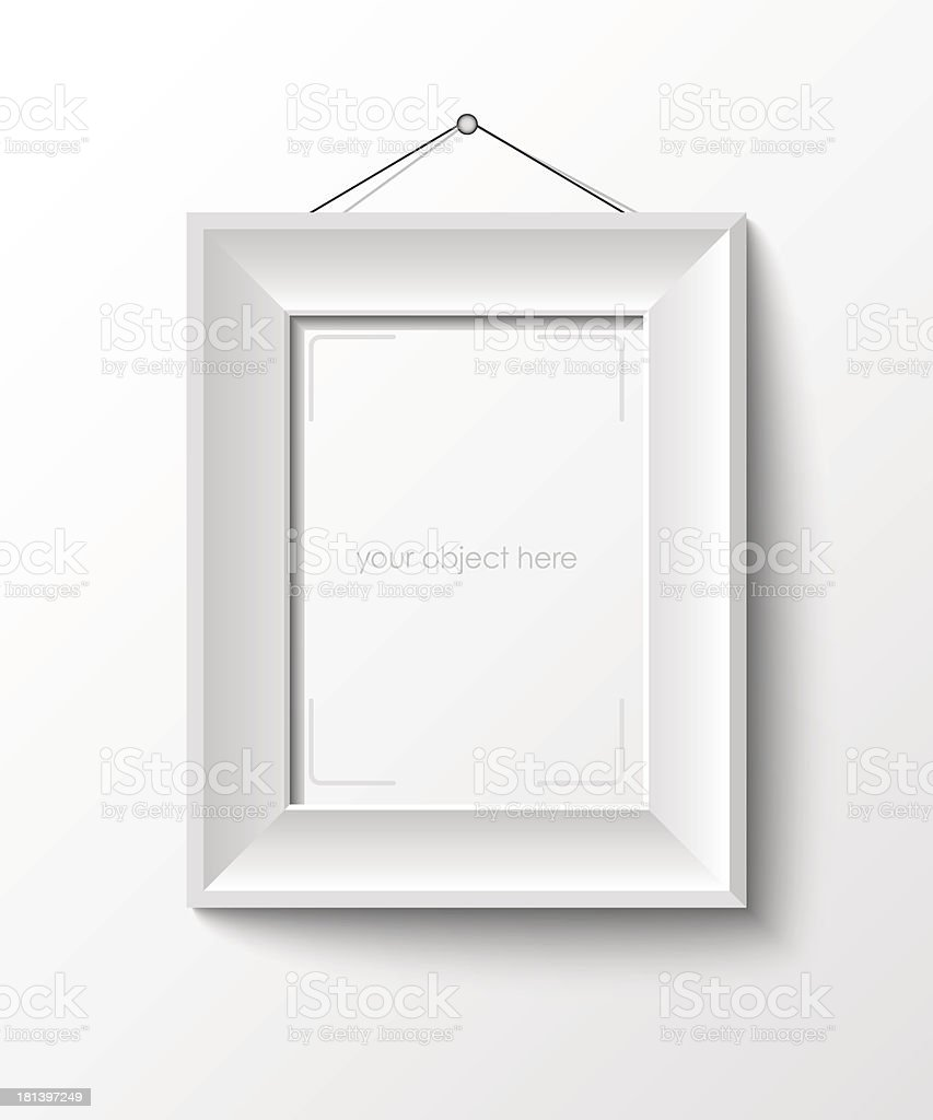 white frame for your photo or picture vector art illustration