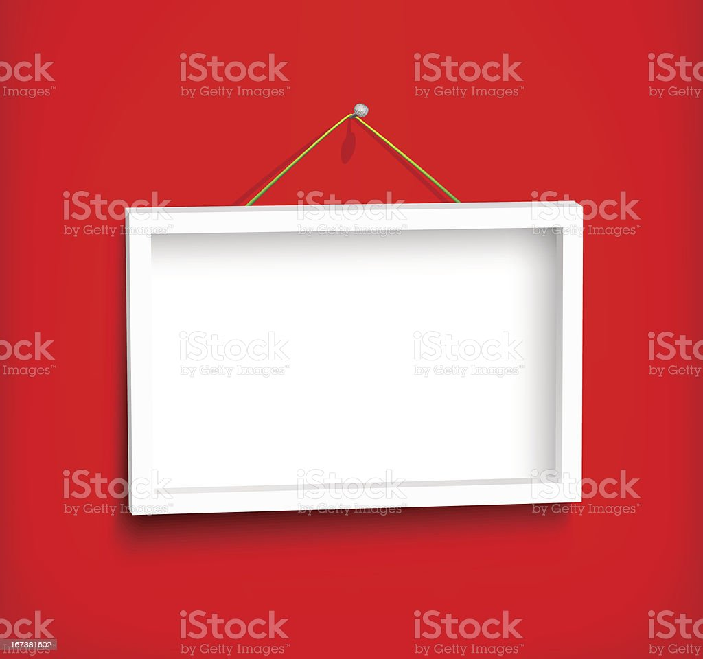 White frame on the wall royalty-free stock vector art