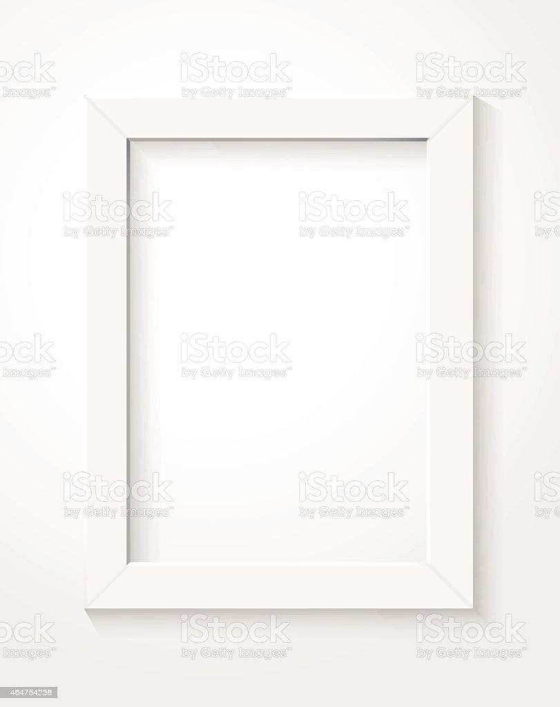 white frame vector art illustration