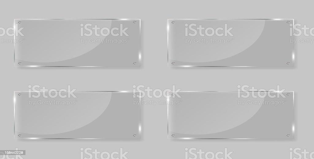 White frames in art gallery vector illustration royalty-free stock vector art