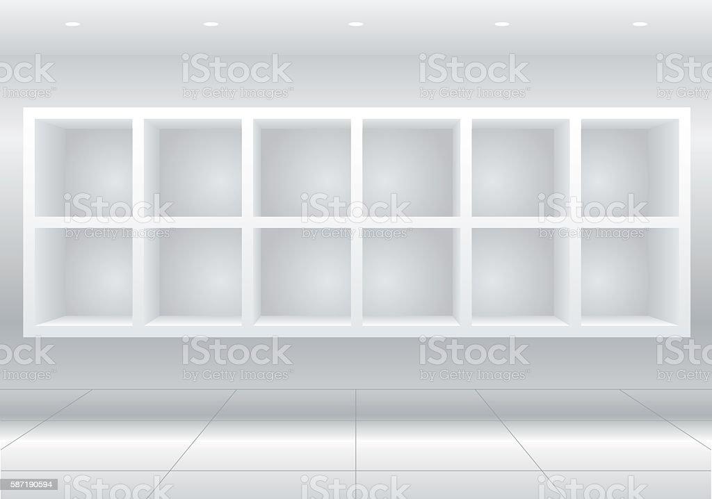 White furniture cells vector art illustration