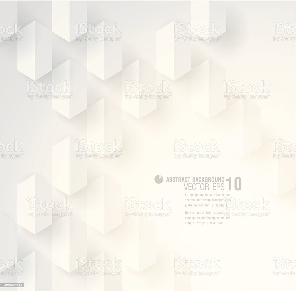 White geometric background royalty-free stock vector art