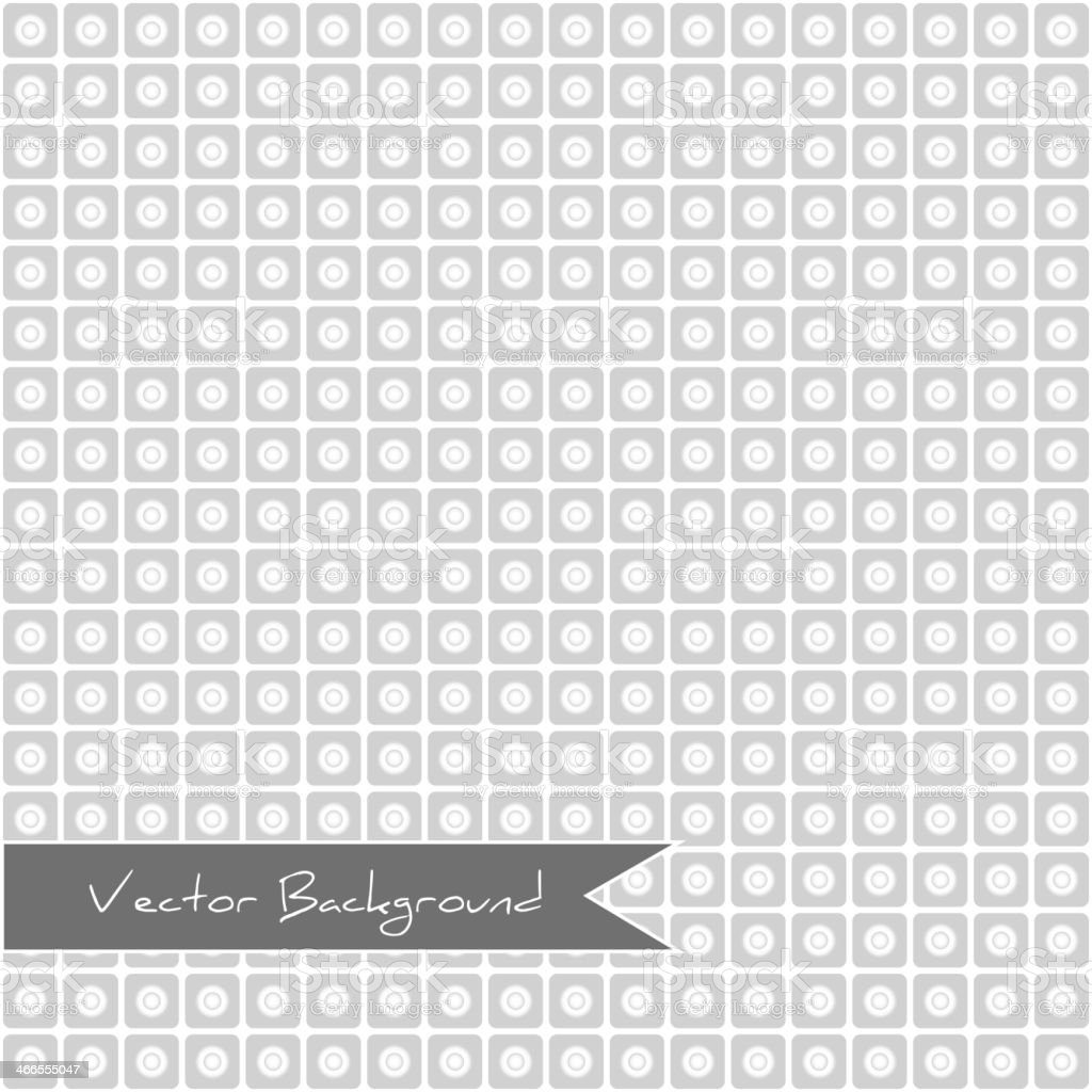 white geometric pattern with squares and circles royalty-free stock vector art