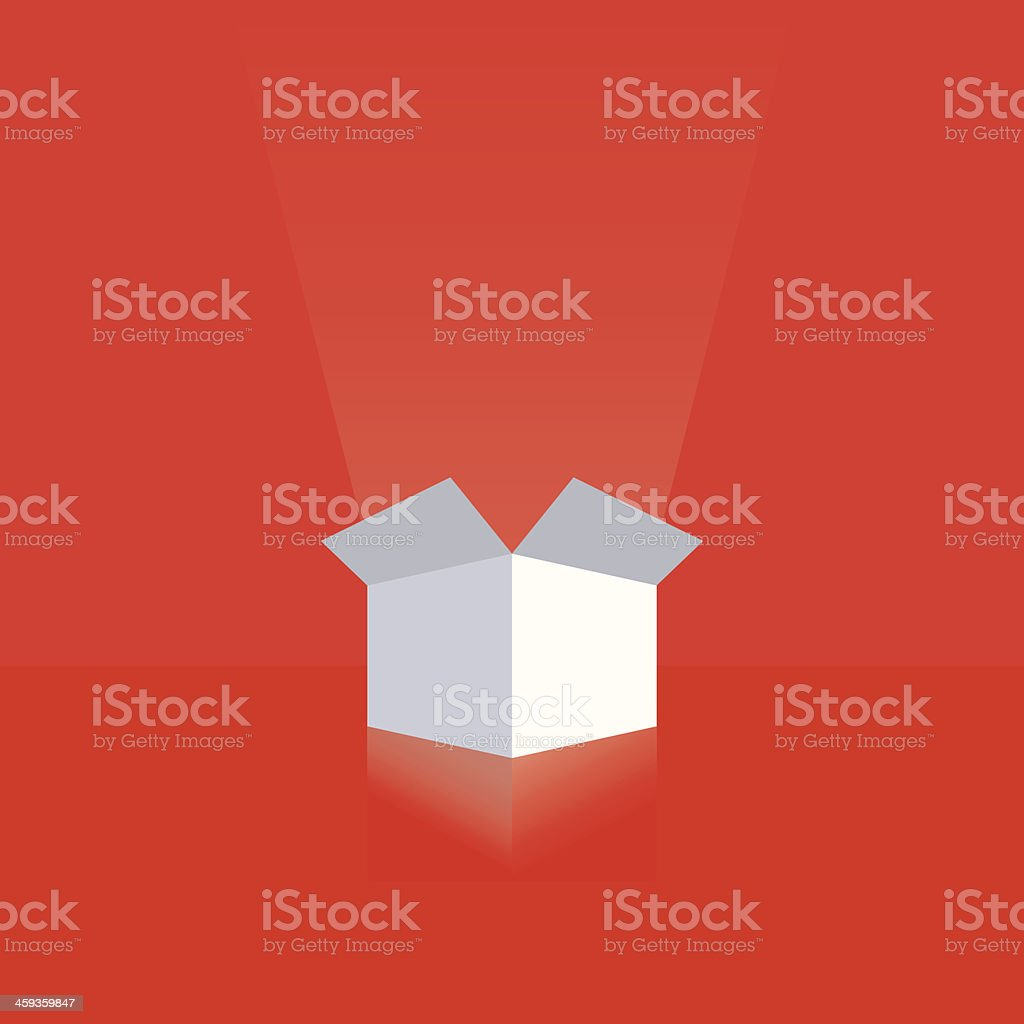 White gift box vector art illustration