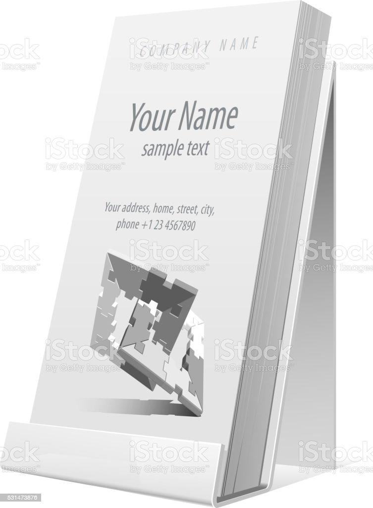 White Glossy holder for  flyer, brochure. Vector Illustration vector art illustration