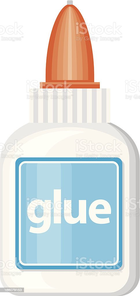 White Glue Icon vector art illustration