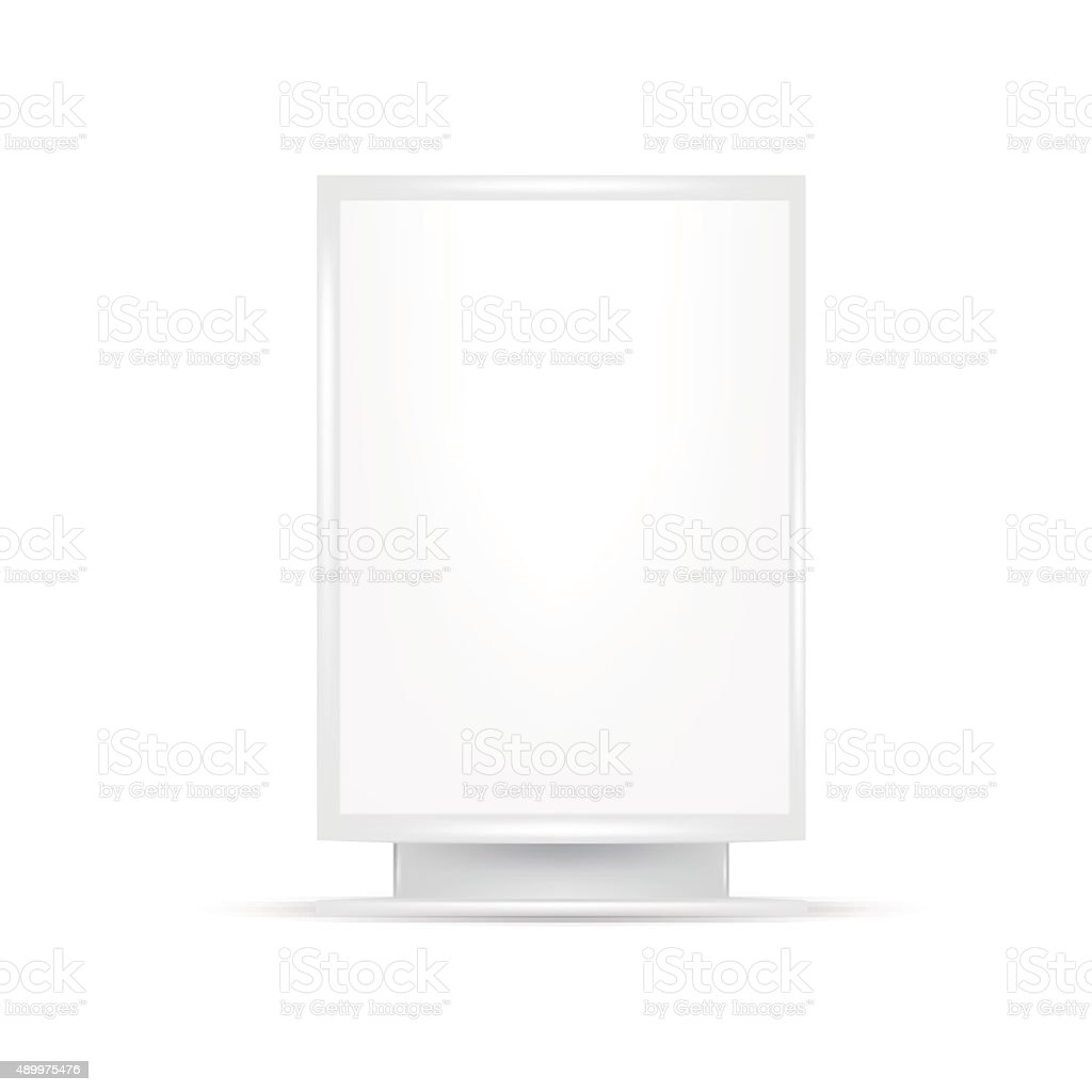 White gray POS POI Outdoor 3D Advertising vector art illustration
