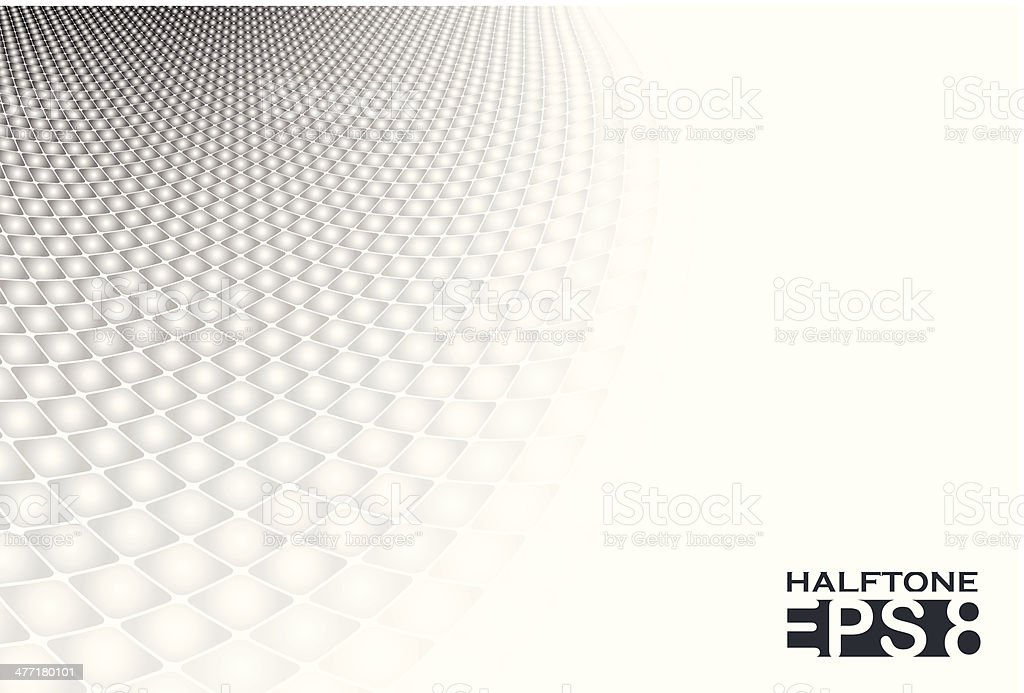 White & grey abstract halftone background vector art illustration