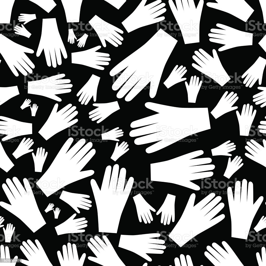 white hands seamless pattern eps10 vector art illustration