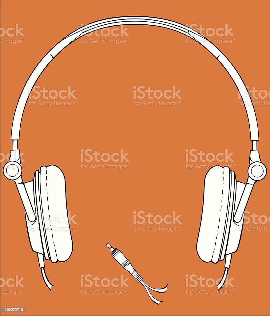 white headphones royalty-free stock vector art