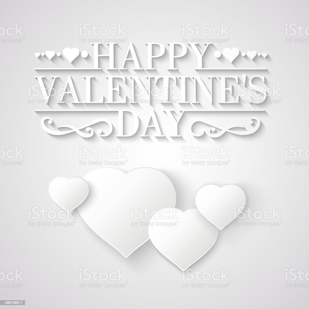 White heart. royalty-free stock vector art