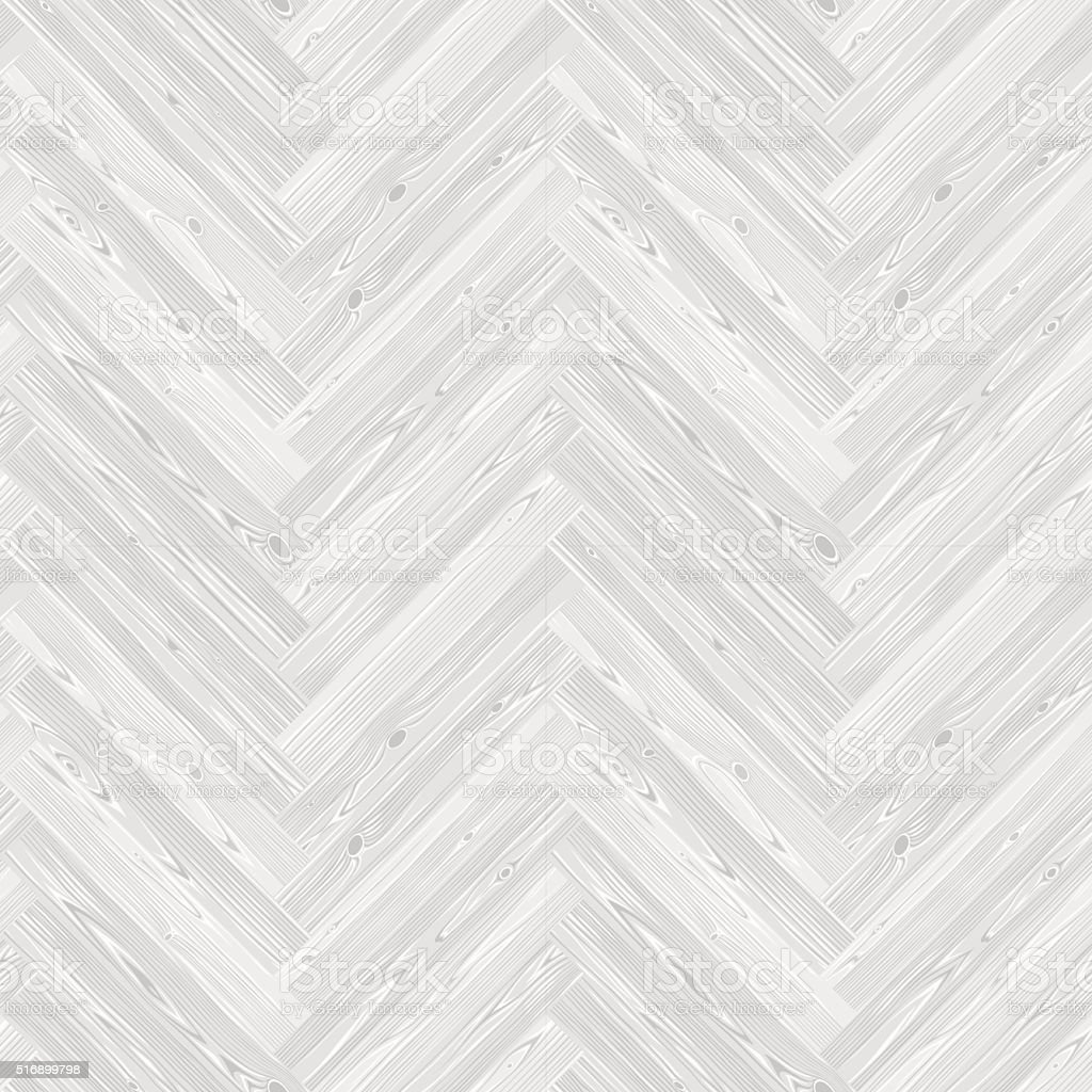 White Herringbone Parquet Floor Seamless Pattern vector art illustration