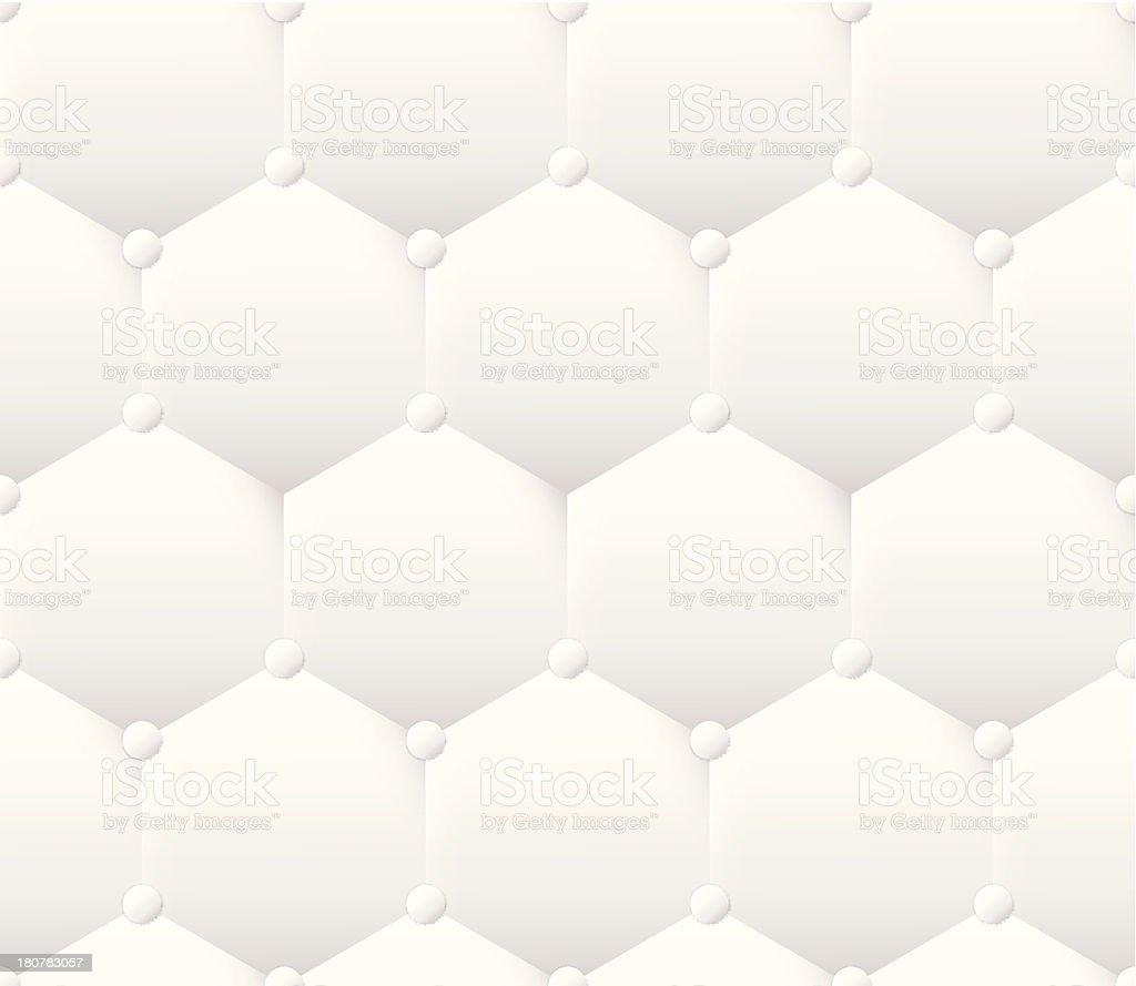 White Heston shape leather upholstery pattern royalty-free stock vector art