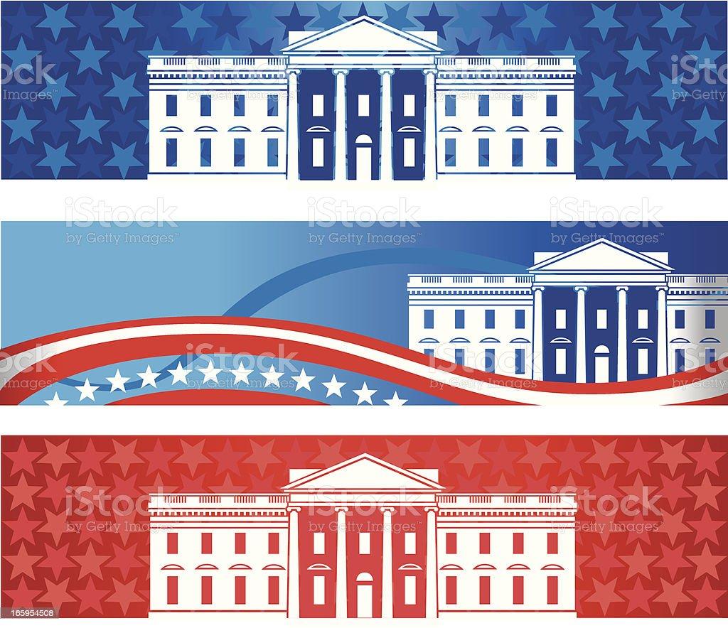 White House Banners vector art illustration