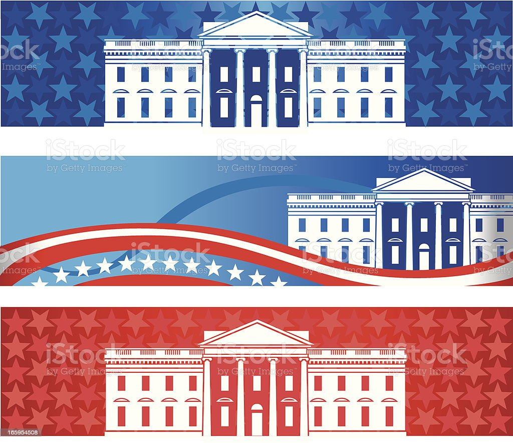 White House Banners vector art illustration
