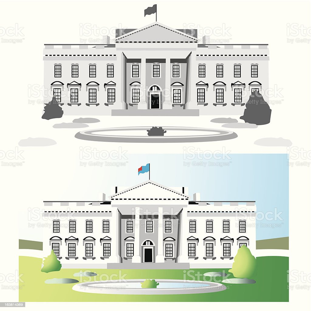 white house washington vector royalty-free stock vector art