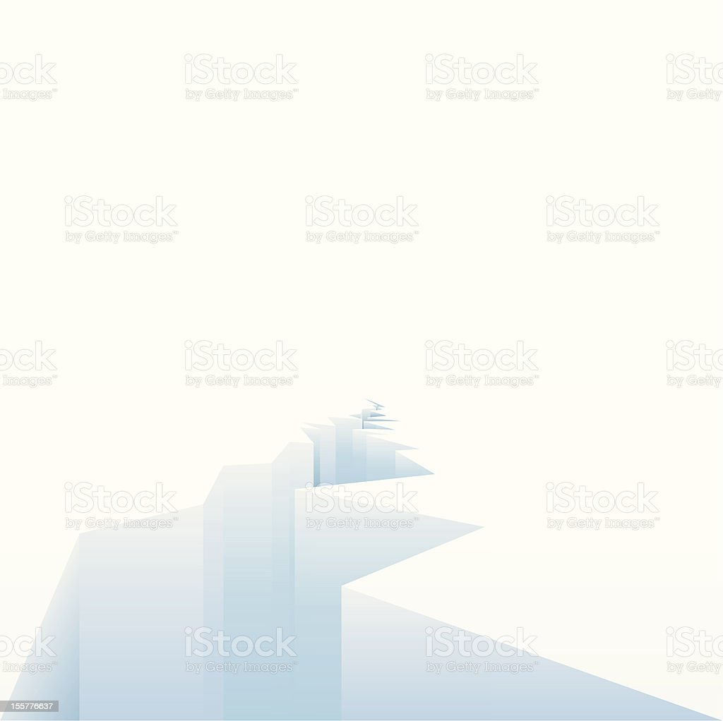 White ice sheets melting due to warming vector art illustration